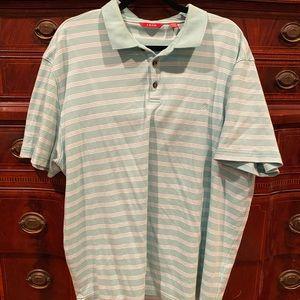 Izod polo style shirt - turquoise blue XXL